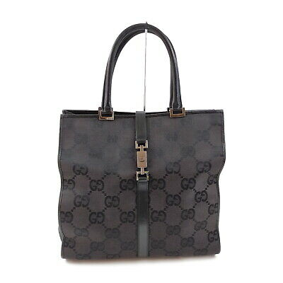 AU7.01 • Buy Gucci Hand Bag Pretty Black Canvas 2400958
