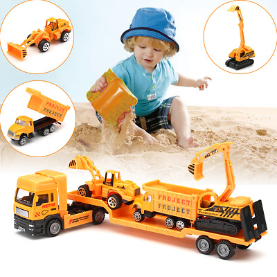 £22.92 • Buy 4in1 Kids Toy Recovery Vehicle Tow Truck Lorry Low Loader Diecast Model Toys