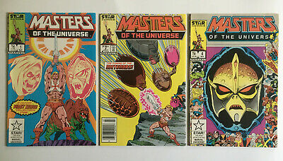 $26 • Buy Masters Of The Universe #1 (NM), #2 (NM), #4 (VF) He-Man! Marvel Comics 1986