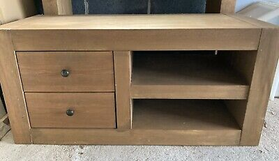 £60 • Buy ** NEXT Solid Oak Tv Unit Stand Cabinet With Drawers & Shelf **
