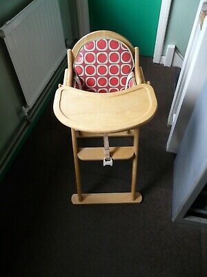 £30 • Buy East Coast Natural Wooden High Chair With Straps And Padded Insert