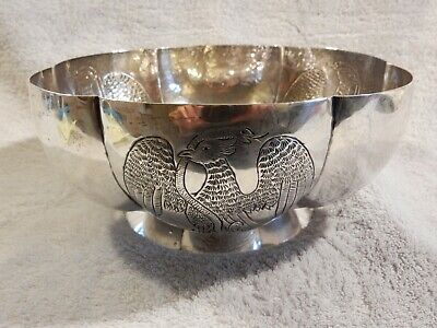$690 • Buy Mexican Sterling Silver Bowl Made By Maciel In Early 20th Century