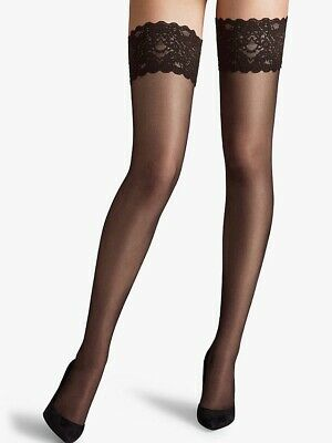Wolford Satin Touch 20 Denier Stay Ups, Nearly Black (S, M, L Available)  • 19.99£