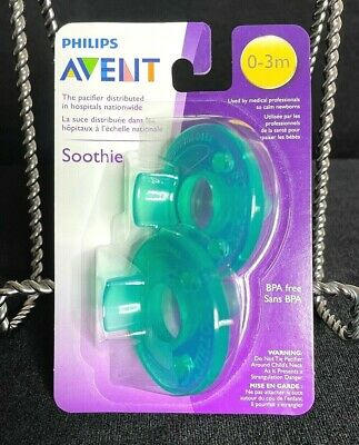 AU6.36 • Buy Pack Of 2 Philips Avent Soothie Pacifiers - Nip