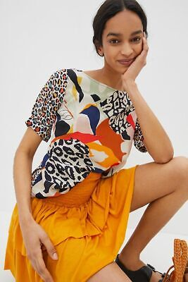 $ CDN66.55 • Buy New Anthropologie Elsa Contrast Top Multi Color Size XS $78 NWT