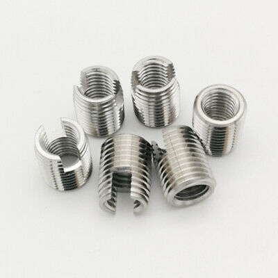 £4.94 • Buy Stainless Steel Slotted Self Tapping Threaded Inserts Nuts M3 M4 M5 M6 M8 SekY