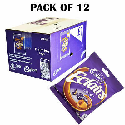 £15.50 • Buy Cadbury Eclairs Classic Chocolate Full Box Of 12 X 130g Bags | BB   September 14