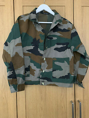 Camouflage JACKET SIZE 12 BY CLOTHES MINDED -  GREAT CONDITION • 6£