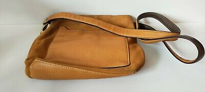 AU49.99 • Buy OROTON Crossbody Bag Tan Suede Leather Brown Small Beige Neutral Travel
