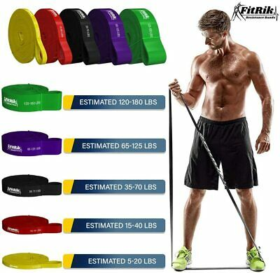 AU38.90 • Buy Set Of 5 Heavy Duty Resistance Band Loop Power Gym Yoga Exercise Fitness Workout