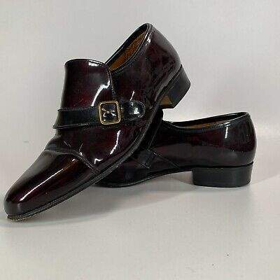 £29.74 • Buy Sanders Buckle Slip-on Loafers Shoes Cherry Brown Made In England Size UK 7.5