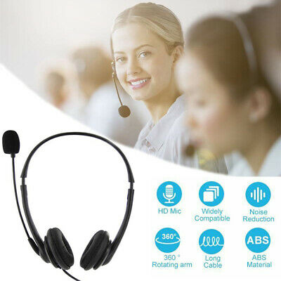 £7.99 • Buy USB Headphones With Microphone Noise Cancelling Headset For Skype PC Laptop