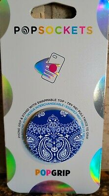 AU12.77 • Buy Popsockets Popgrip-BLUE Bandana - Phone Grip & Stand Swappable Top New