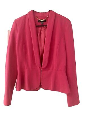 AU18.50 • Buy Forever New Blazer Pink Jacket Size 10 Small