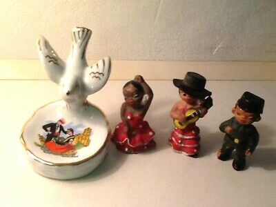 £3.75 • Buy  3 Little Spanish Folk 2 Dancers And Police Man 1960's And Small Trinket +DOVE