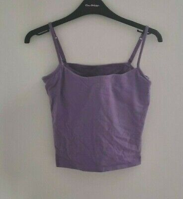 £0.99 • Buy Ovation Women's Stretchy Camisole With Bra Insert Top Size 34E UK  Lilac