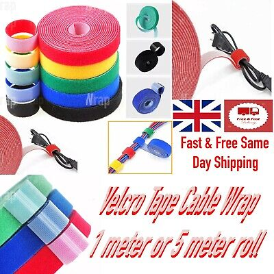 £1.99 • Buy Velcro Tape Velcro Strap Cable Ties Hook & Loop One Wrap Wrap Strap Length 1m/5m