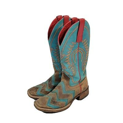 $99.15 • Buy Macie Bean Cowboy Boots Turquoise Womens 6.5 M  Leather Cowgirl Western