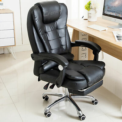 AU128.99 • Buy Massage Office Chair With Footrest Executive Gaming Seat PU Leather