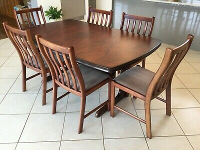 AU800 • Buy Extendable Rosewood Dining Table With Six Chairs