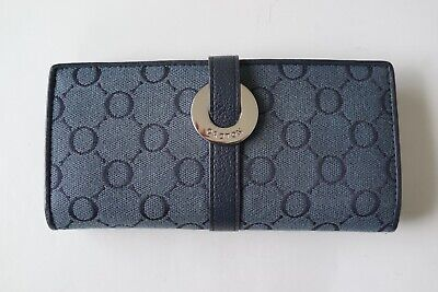 AU40 • Buy Oroton Signature Monogram Blue Canvas, Leather Trim Wallet…vgc...