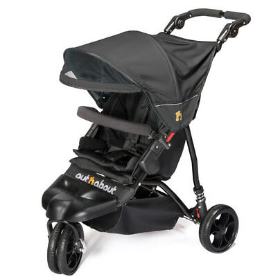 £234.95 • Buy Brand New Out N About Little Nipper Single Stroller Jet Black With Pvc & Basket
