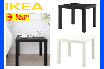 AU30.99 • Buy IKEA LACK Side Coffee Table Black White Living Bedroom Study Bench End **NEW!!**