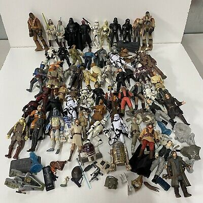 $ CDN130.41 • Buy Vintage Star Wars Action Figure Collection Lot - 1990's 2000's Figurines