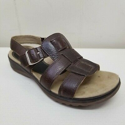 £32.42 • Buy Red Wing Brown Leather Sandals 7.5M Open Toe Wedges 4037 Slingback