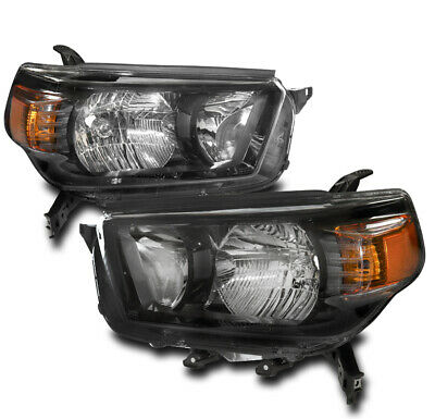AU280.56 • Buy For 10-13 Toyota 4Runner Replacement Headlights Headlamps Black Left+Right Pair
