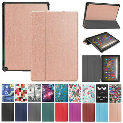 Leather Stand Case Smart Sleep Cover For Amazon Kindle Fire HD10 Plus 2021 10.1  • 8.25£
