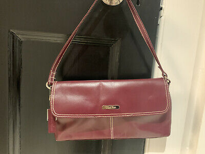 £4 • Buy Calvin Klein Maroon Leather Purse