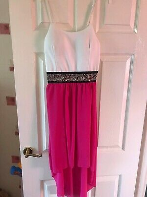 £7.50 • Buy Pink And White High Low Dress