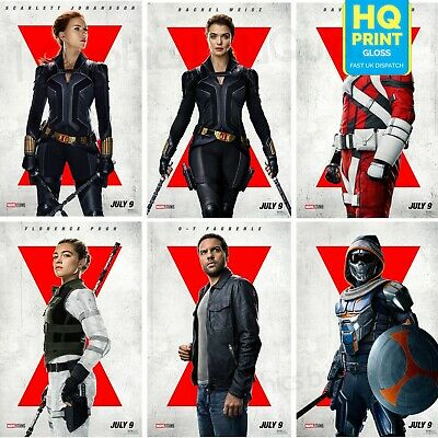 $ CDN22.49 • Buy Black Widow Character Posters Marvel 2021 Movie Poster | A5 A4 A3 A2 A1