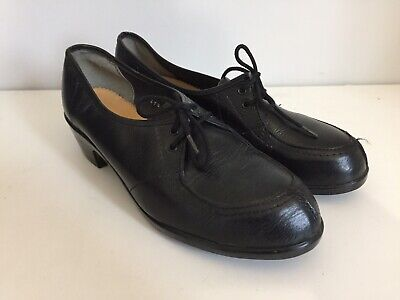 AU72.52 • Buy Vintage Women's Heeled Shoes Land Girls Safety Footwear Uk 4 40s 50s Leather