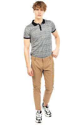 $ CDN18.79 • Buy RRP €145 ENTRE AMIS Chino Trousers Size 34 Stretch Check Slim Fit Made In Italy