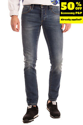 $ CDN1.69 • Buy RRP €115 GRAFFIO Jeans Size 44 / XS Stretch Faded Worn Look Button Fly Slim Fit