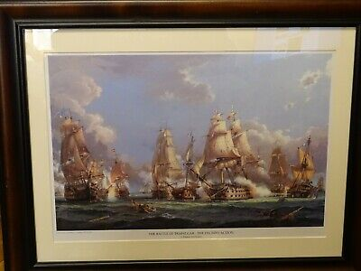 £212.47 • Buy VINTAGE PLATE THE BATTLE OF TRAFALGAR THE DECISIVE ACTION By S.FRANCIS SMITHEMAN