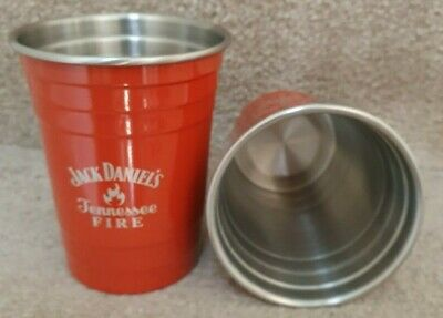 £16.99 • Buy Rare Official Jack Daniels Tennessee Fire Aluminum Cup Brand New