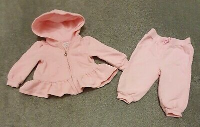£1.99 • Buy RALPH LAUREN Baby Girl PINK Hooded TRACKSUIT 6/9M Cotton Pique 2pc SET