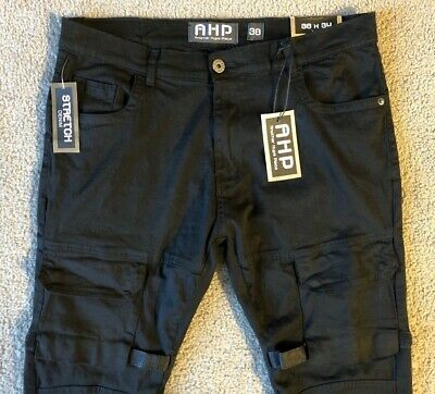 $ CDN26.60 • Buy NWT AHP Another Hype Piece Men's Black Cargo Pants - Size 38 X 34 Slim Fit