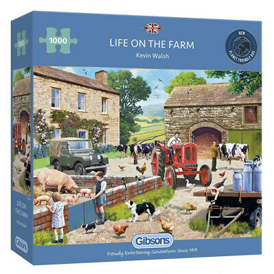 £14.99 • Buy Life On The Farm 1000 Piece Gibsons Jigsaw, Kevin Walsh, Pigs, Cows, Dogs G6304