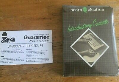 £14.99 • Buy Acorn Electron Sealed Introductory Cassette And Guarantee Card NIB NOS