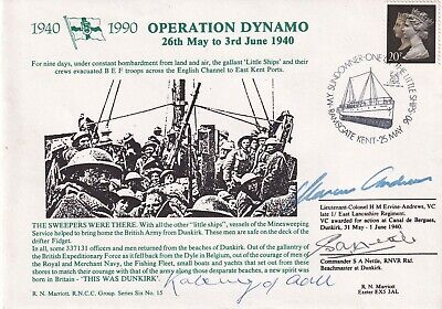 £17.95 • Buy 6RNCC15c Operation Dynamo  Signed Andrews VC Plus 2 At  Dunkirk 1940 .