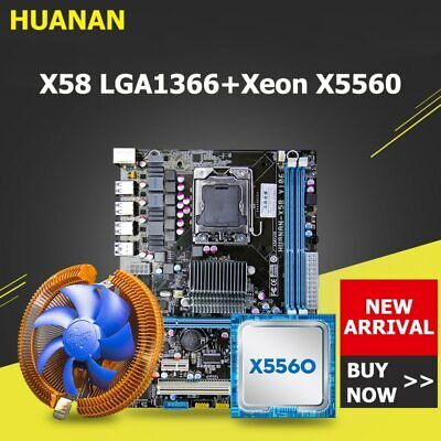 $ CDN188.37 • Buy Huanan Zhi X58 Motherboard CPU Combos With Cooler USB3.0 X58 LGA1366