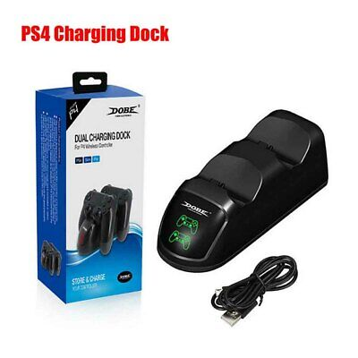 AU21.83 • Buy Charger Gamepad Stand DOBE Dual Controllers Charging Dock Station For PS4