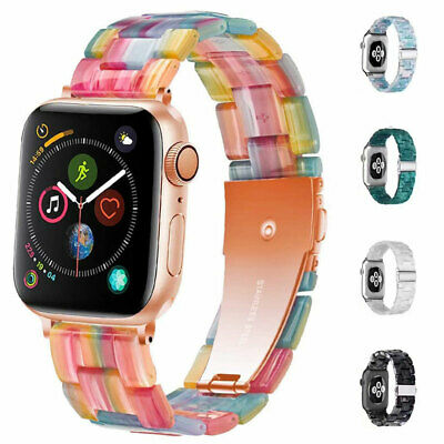 $ CDN13.96 • Buy Luxury Resin Band Strap For Apple Watch IWatch 6 SE 5 4 3 2 1 38/40mm 42/44mm *