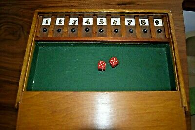 £20 • Buy Hand-made Shut The Box - Vintage Wooden Game