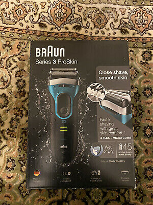 View Details Braun Series 3 ProSkin 3080s Wet And Dry Mens Electric Rechargeable Shaver Razor • 99£
