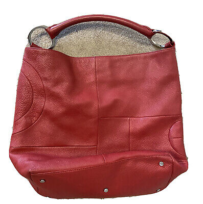 AU21.50 • Buy Oroton Soft Leather Cherry Red Women's Bag With Signature O Hardware In Silver